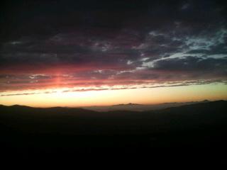 オロフレからの夕日